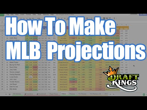 How To Make DFS MLB Projections - DraftKings Tutorial