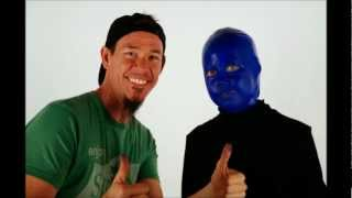 Shannon and Riley Time Lapse: The Blue Man Group Halloween makeup / costume
