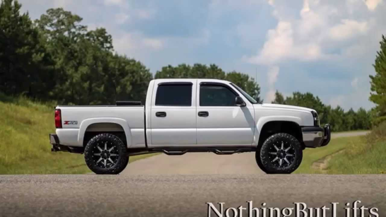 "2004 Chevy Z71: 6"" lift, 34s, 20x10 - YouTube"