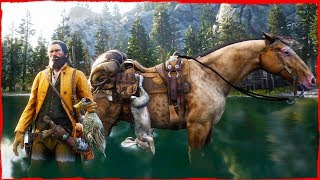 Red Dead Redemption 2 Free Roam HUNTING Random gameplay with John Marston #16