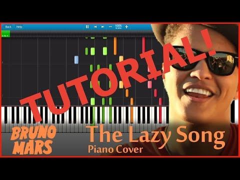 The Lazy Song 4 Hands [Piano Tutorial] (Synthesia)