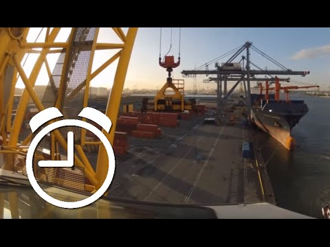 Port Timelapse Compilation: Gantry and Mobile Harbour Cranes!  Port of Antwerp container GoPro