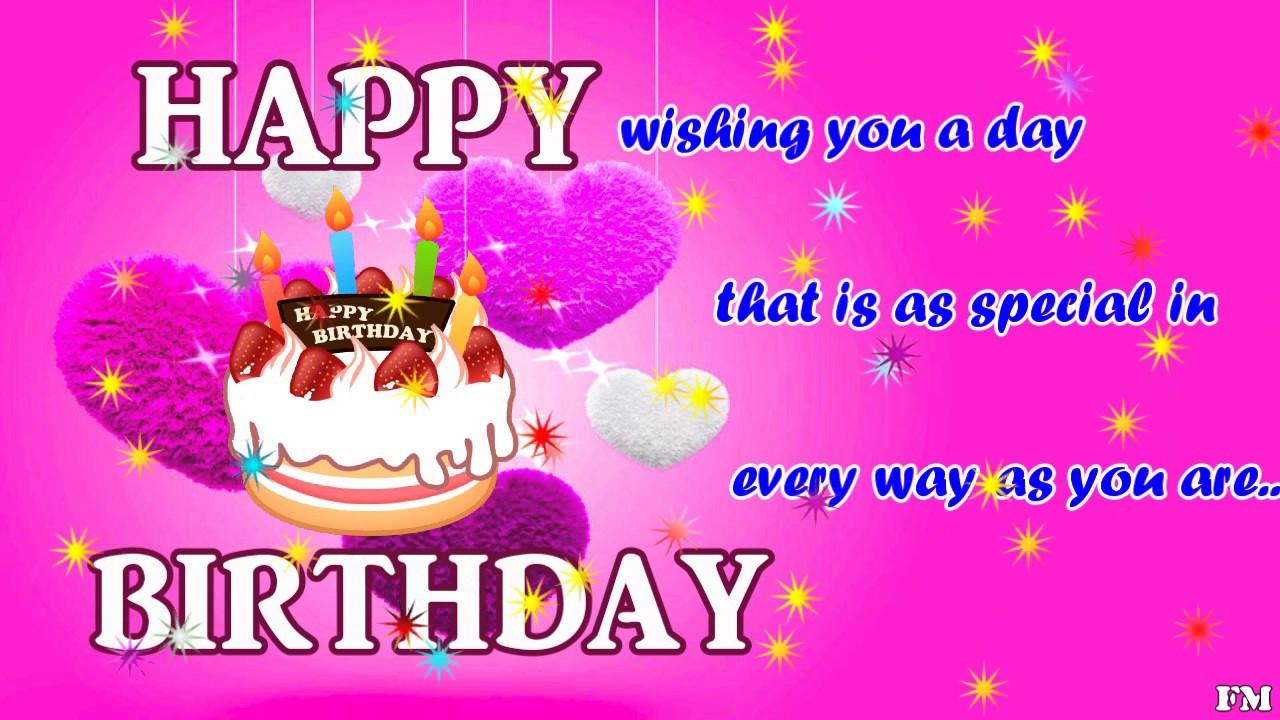 happy birthday video greeting card wish you YouTube – Happy Birthday Video Greeting Cards