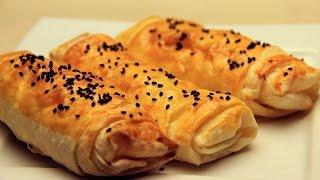 Peynirli Rulo Börek Tarifi - Hazır Yufkadan Kolay Çıtır Börekler