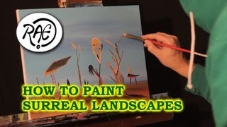 HOW TO PAINT A SURREAL LANDSCAPE using Acrylic Paints LIVE Painting with RAEART