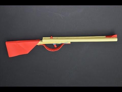 Como hacer un Rifle de Papel que Dispare - juguete de papel