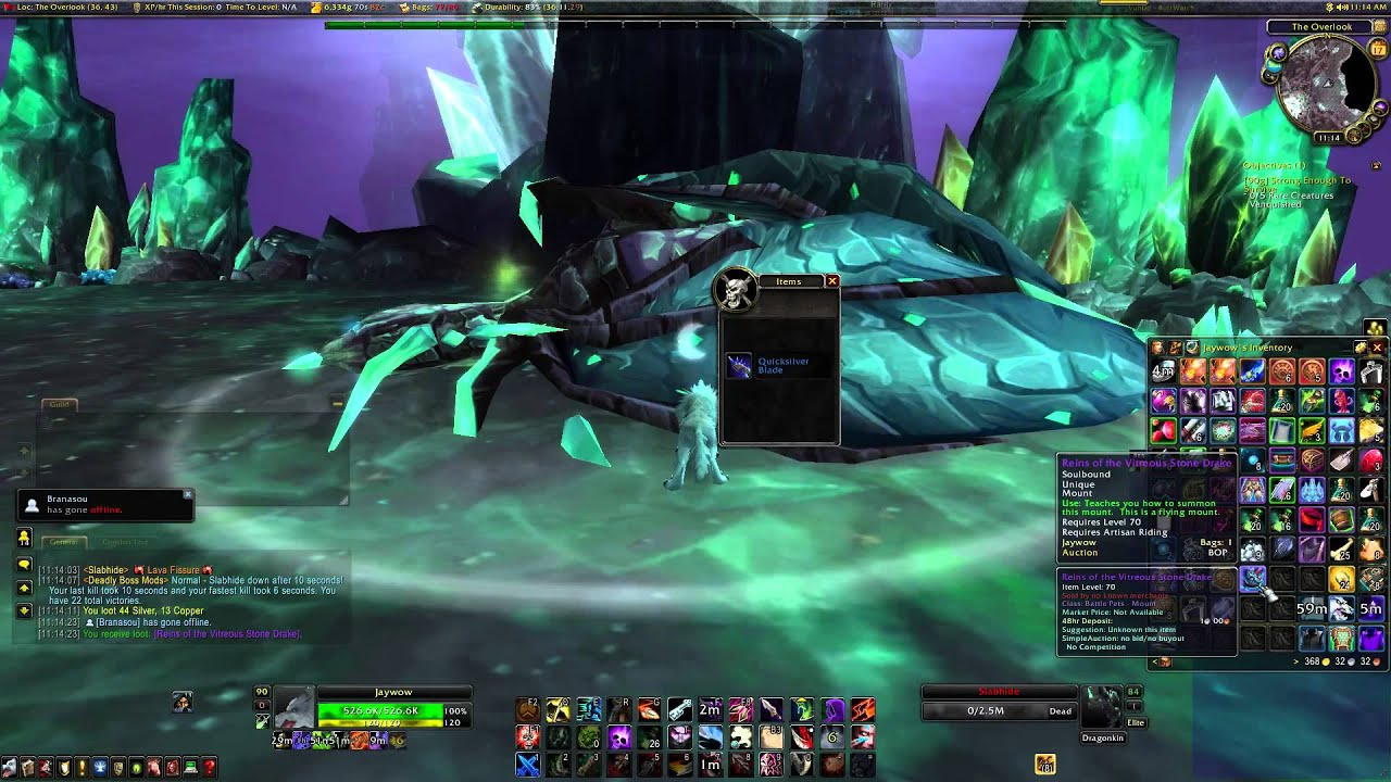 Warcraft Mounts Vitreous Stone Drake