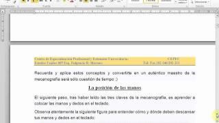 Video de Introducción a la Dactilografia Computarizada
