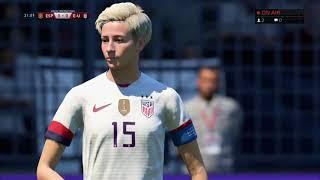 Espagne Etats-Unis 8ème de finale coupe du monde féminine FIFA 19
