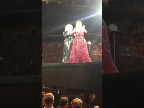Adele Impersonator Feminem on stage with Adele in Perth