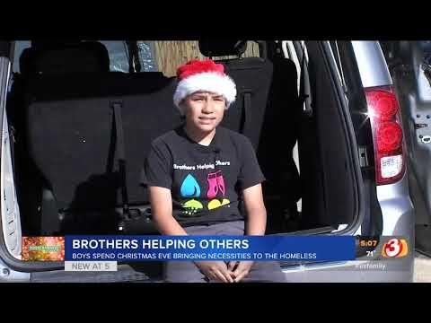 VIDEO: Teen brothers help homeless in Phoenix