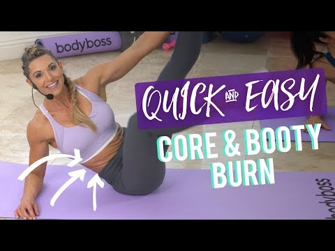 Core & Booty Quickie By Kim Lyons | 10 Minute At-Home Circuit, No Equipment Needed