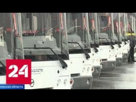 Подмосковный парк рейсовых автобусов пополнился сразу на сто единиц - Россия 24