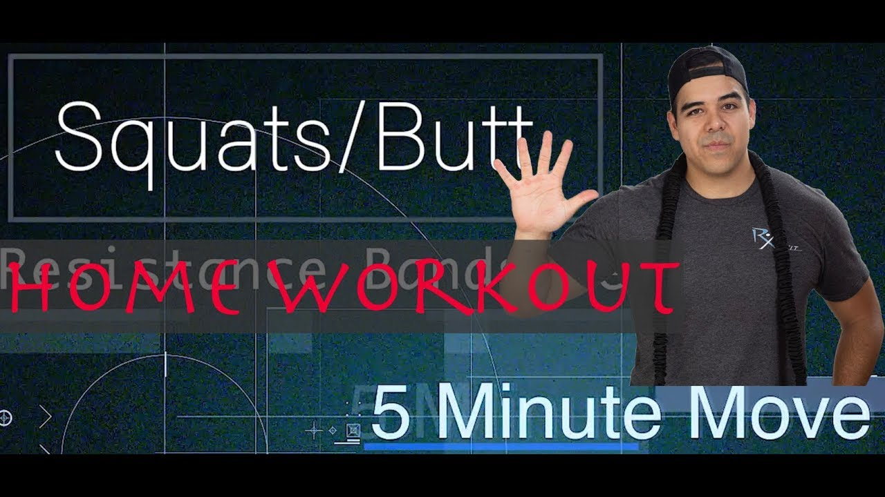 Squats - Exercise Bands - 5 Minute Move - Friday