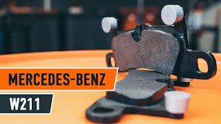 Τοποθέτησης Τακάκια Φρένων εμπρος και πίσω MERCEDES-BENZ E-CLASS: εγχειρίδια βίντεο