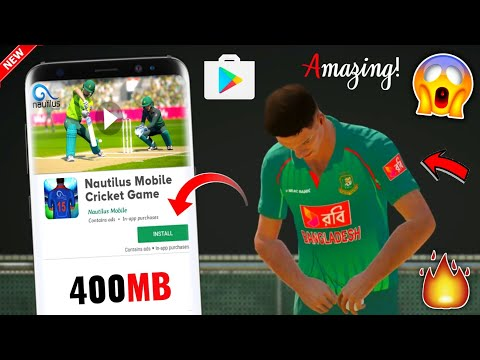 [400MB] Nautilus Mobile Cricket Game Apk+Data Download On Android | Brand-New & Full HD Zip