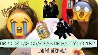 RETO DE LAS GRAGEAS DE HARRY POTTER CON MI HERMANA