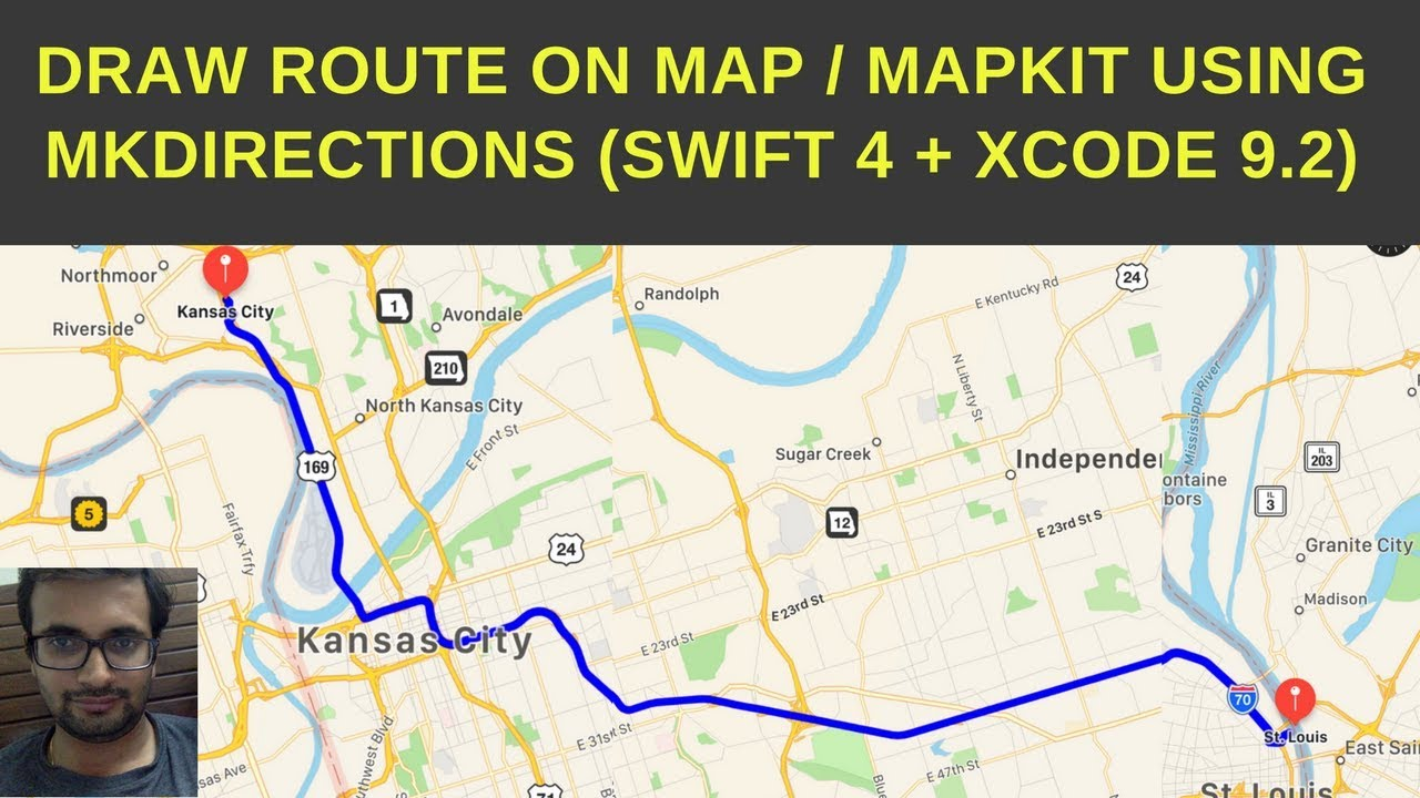 Draw Route And Directions On Mapkit Swift 4 Xcode 9 2 Youtube