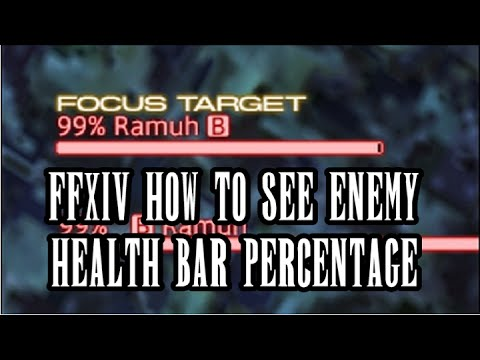 FFXIV HW : How to display targets remaining HP percentage