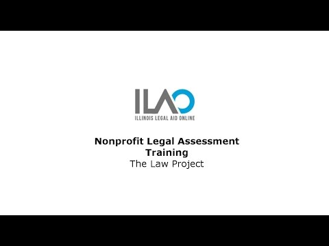 Nonprofit Legal Assessment Training