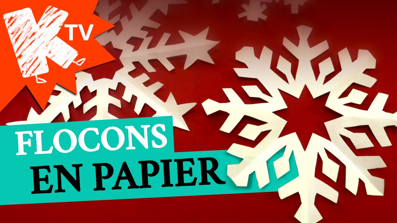 Flocons de neige en papier youtube - Bricolage en papier facile a faire ...