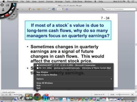 Stocks and Valuation, DDM DCF, Gordon Dividend Discount Model, Valuation ratios