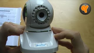 unboxing first look hootoo ht ip210f wireless ip kamera wlan wifi h 264 camera