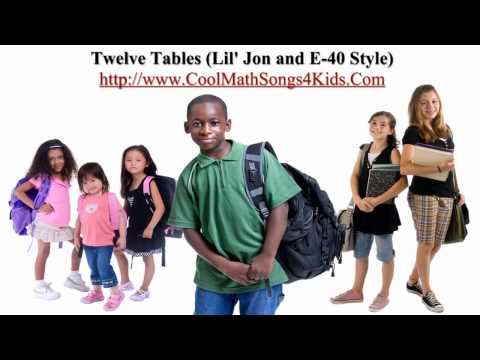 12 Times Tables Lil Jon and E40 Style  Cool Math Songs 4 Kids
