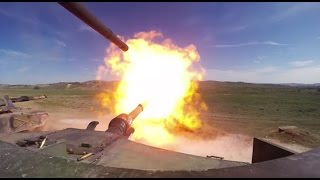 HD POV Footage Of M1A1 Abrams Tanks Firing