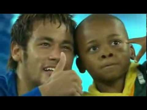 Neymar takes photos with South African kid - South Africa 0-5 Brazil FIFA World Cup prep match