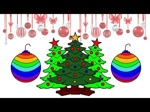 How To Draw Christmas Tree Ornaments Learn To Draw Art Lesson Arte Festive Xmas Youtube