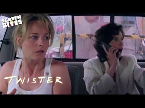 "Twister: Tornado hunting  (ft. Helen Hunt and Bill Paxton) ""We Got Cows!"""