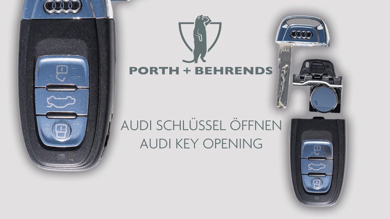 neuen audi schl ssel ffnen new audi key opening youtube