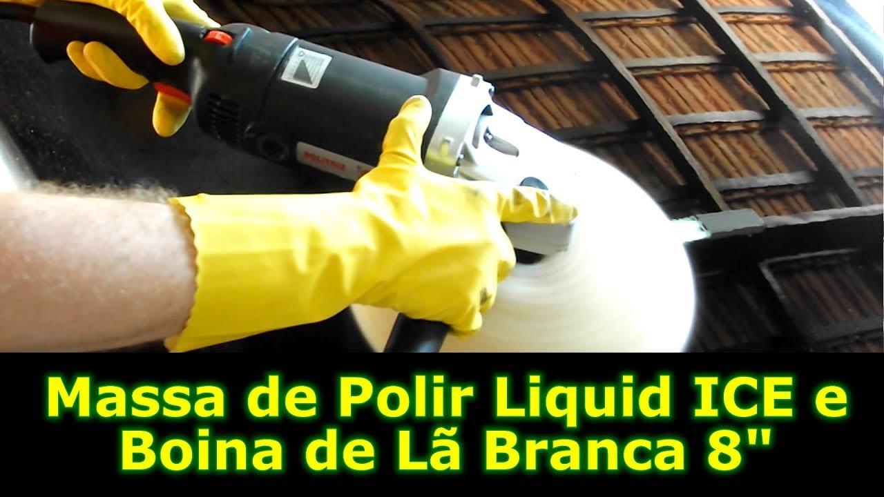 Etapa de Corte  Massa de Polir Liquid ICE e Boina de Lã Branca em Detalhes 84c97b97c0a
