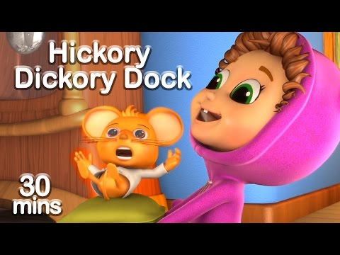 Hickory Dickory Dock (Learn Numbers and Counting) + Educational Nursery Rhyme Compilation