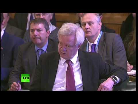 LIVE: David Davis appears before European Scrutiny Committee
