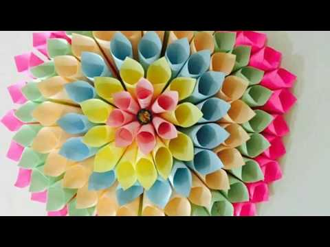 DIY Large Paper Dahlia Tutorial - Dilkash.pk