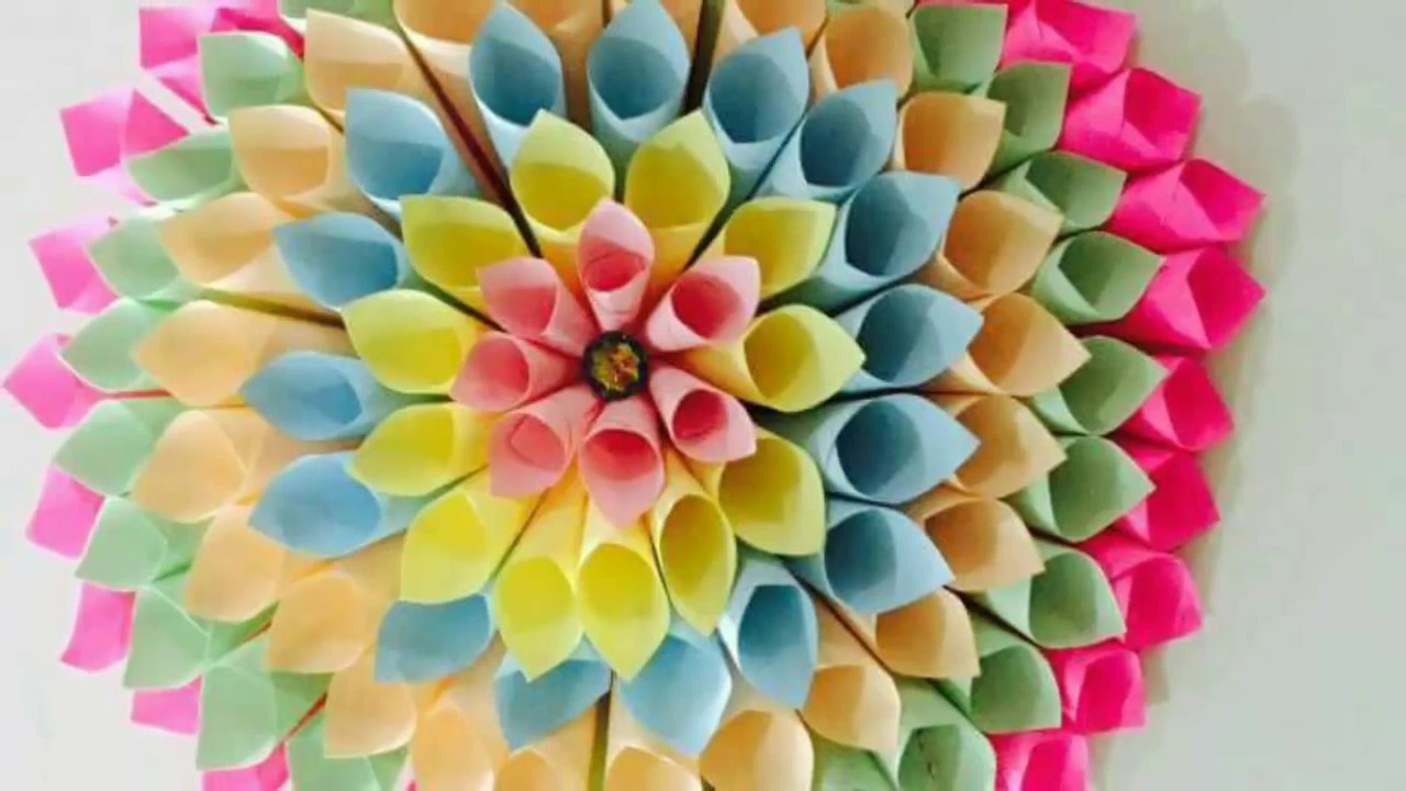 How To Make A Paper Dahlia Wreath With Easy Steps Dilkash Pk Art