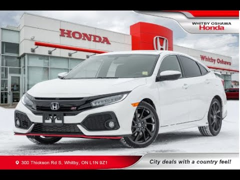 2018 Honda Civic Si Sedan Hfp White Whitby Oshawa Honda Stock U9421 Youtube