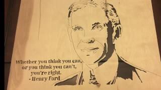 Henry Ford - scroll saw portrait