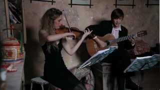 bitter sweet symphony the verve stringspace guitar violin duo cover