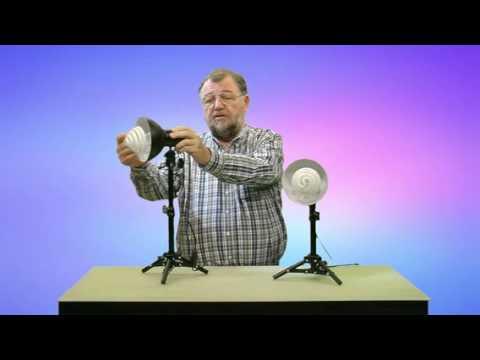 Somikon stativ fotolampen mit tageslichtleuchte 5400k 2er for Foto lampen