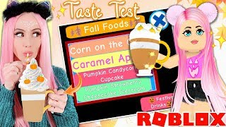 Taste Testing ALL The Fall Foods In Royale High! Are They As Tasty As They Look?! Roblox Royale High