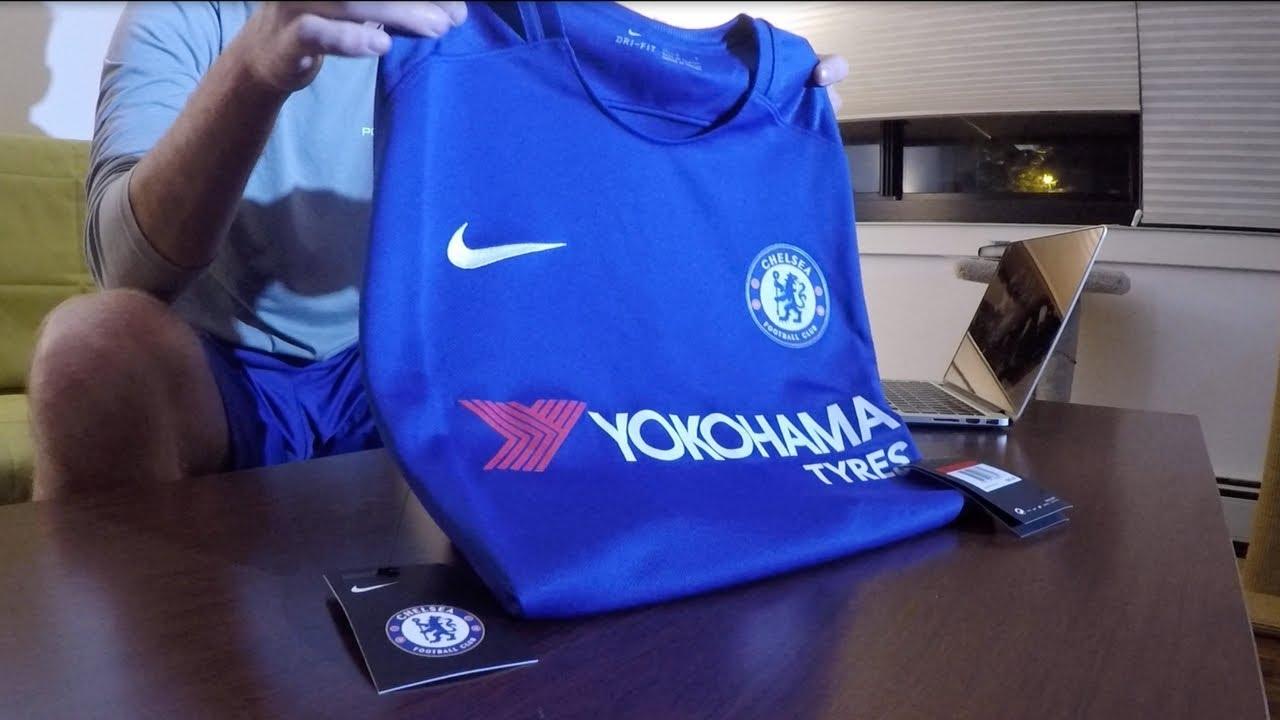 46e70e844 2017 18 Chelsea Home Kit Unboxing from World Soccer Shop! - YouTube