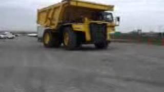 Me drivin a 100 ton rock truck