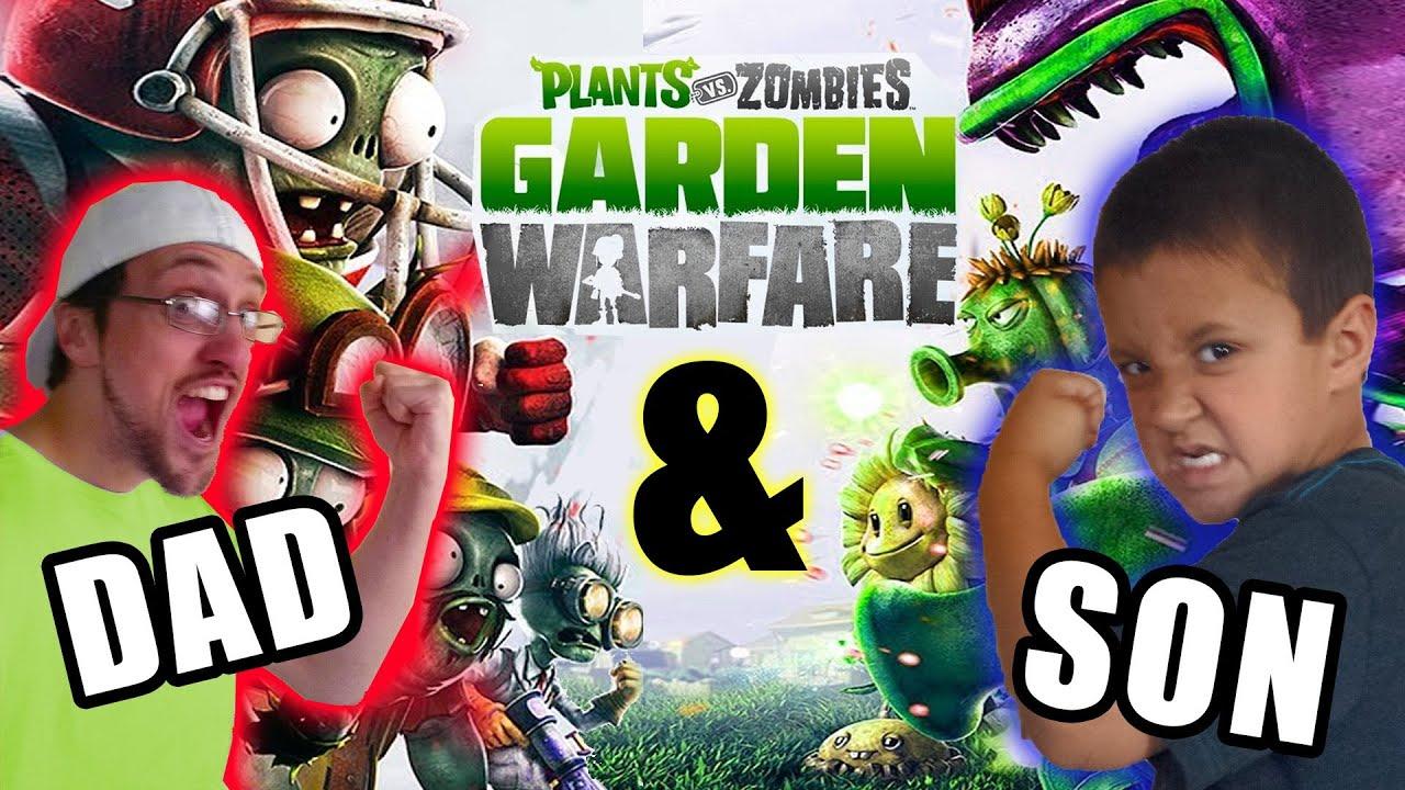 Plants Vs Zombies Garden Warfare Dad Son Metal Petal Team Co Op Splitscreen Duracell