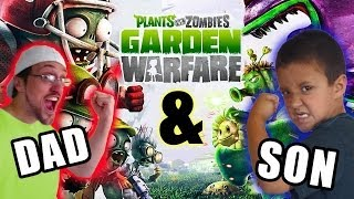 Plants vs. Zombies Garden Warfare: Dad & Son Metal Petal Team! Co-Op Splitscreen - Duracell Stinks!