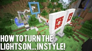 Minecraft: How To Turn The Lights On... In Style! Rube Goldberg Machine