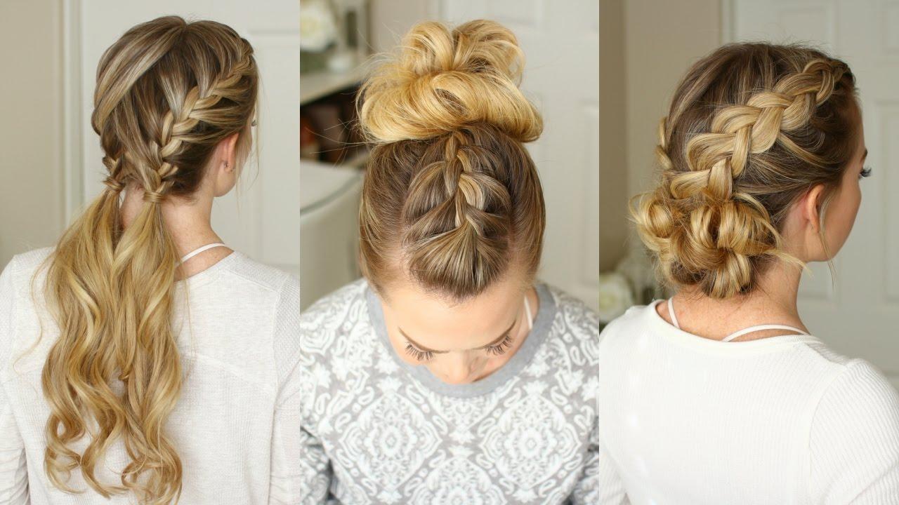 3 Easy Braided Hairstyles | Missy Sue - YouTube