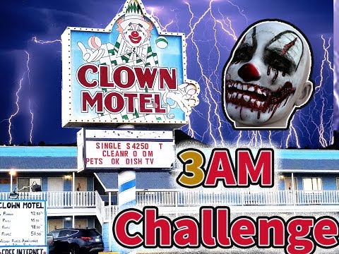 The Haunted Tonapah Clown Motel 3am Challenge with @Omargoshtv and @TheFAM